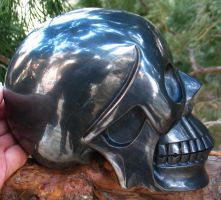 Hematite Skull 001a by SKULLKRAFT