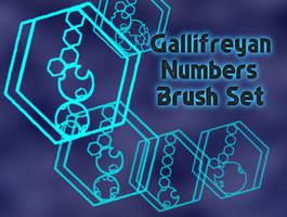 Gallifreyan Numbers Brush Set by Artemis-Stock