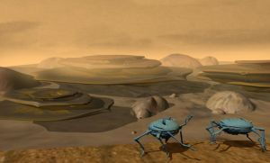 The landscape on an alien planet (the Muuh) by eburacum45