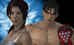 Lara Croft and Jin Kazama by Pedro-Croft