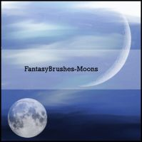 Moon Brushes by FantasyBrushes