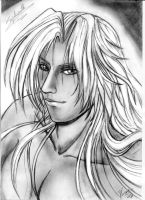 a realistic Sephiroth by belafantasy