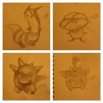 Pokemon Sketches by SAMtheAvenger