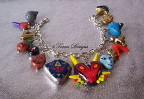 Majoras Mask OoT Bracelet ZELDA All Custom Charms by TorresDesigns