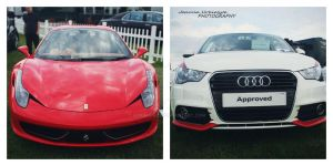 Ferrari VS Audi. by HorzeGirlz