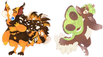 Spring moths! Adopts SOLD by MelNathea