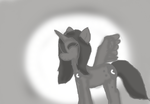 Luna in grey scale by WoefulWriters