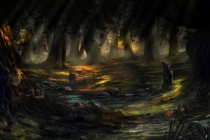 Piano In A Forest by PieterSneep