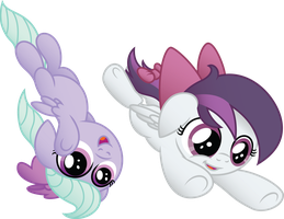 Gale Force and Flitter by Jakage