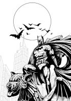 Gothams Guardian (lines) by J-Rayner