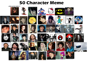 50 characters meme by charliegirl123