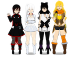Team RWBY (with codes!) by ShiningKnight23