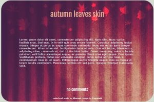 Autumn Leaves Journal Skin by ithermi