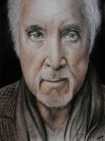 Tom Jones colored pencil drawing by textmixer