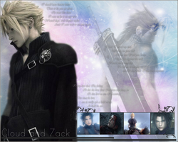Zack and Cloud WP by xrach897