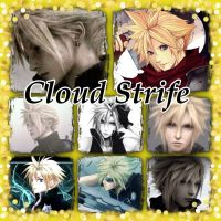 Cloud Strife collage by Xendrak18