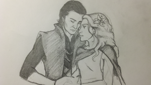 Loki and Sigyn by EmaWee