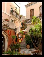 One Of Taormina's Streets by skarzynscy