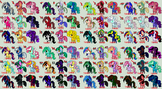 Free adopts Batch 2 CLOSED by wolflover4life008