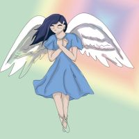 Blue Haired Girl with Wings by Siberian-Kode-Kat