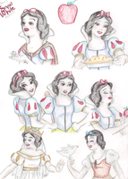Disney Sketch-Colored: Snow White by HumanStick