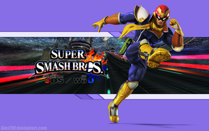 Captain Falcon Wall - Super Smash Bros. Wii U/3DS by AlexTHF