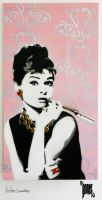 Breakfast at Tiffany's - Stencil on Canvas by byCavalera