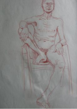 Study of Sitting Male Model 2 by wikkedvenus
