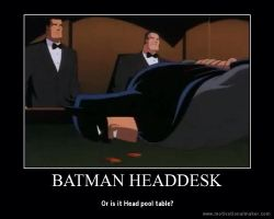 Batman Headdesk by IronBatMaiden91