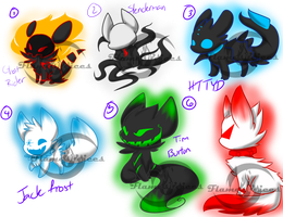 Draw to Adopt-- BONUS ADOPTS (CLOSED) by FlamesVoices