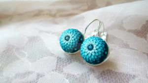 Ocean Blue Turquoise Earrings by LenaHandmadeJewelry