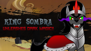 Super Smash Ponies New Challenger: King Sombra by DashieMLPFiM