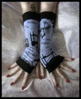 Darkest Fairytale Arm Warmers by ZenAndCoffee