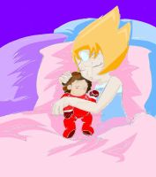 Pearl and Baby Steven_Sleeping_Steven Universe by LoonataniaTaushaMay