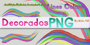 Decorados PNG Lines Colors by juststyleJByKUDAI
