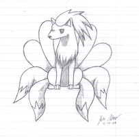 Chibi Ninetails by shadow-wolf051