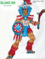 Captain America + Mayan Warrior by RODMAN75