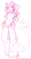 pink love squirrels - sketch by obliviousally