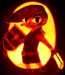 Link: The Hero of Pumpkins by johwee