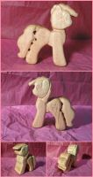 Pinkie Pie Teething Toy in Maple by xofox