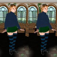 Knit stockings - Anya by Chronophontes