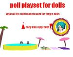 MMD pool playset for dolls by bawicho