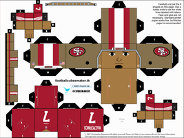 Colin Kaepernick 49ers Cubee by etchings13