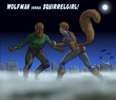 TLIID Halloween 2015 Wolfman meets Squirrel Girl by Nick-Perks