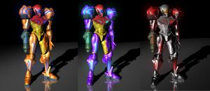 Three Flavours of Samus by Puckducker
