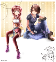 Noel and Serah by Regoli