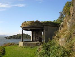 Gun emplacements on Inchcolm by AdamCuerden