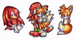 :Tails And Knuckles: by KannaTC