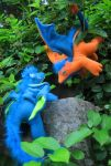 Fuzzy Forest Dragons Just Hanging Out by Skylanth