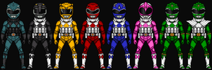 Power Ranger Sentries by HenshinDaisuke